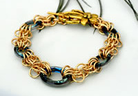 Butterfly Wings - Brass and Swarovski Crystal Bracelet (2)